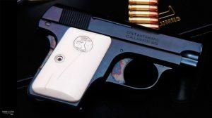 """MOB GUNS """"LITTLE CAESAR"""" Colt 1908 POCKET VEST Blue"""
