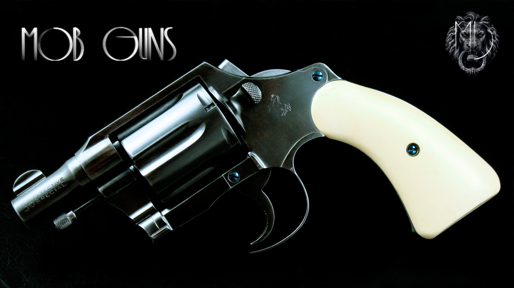 MOB GUNS 1934 COLT 1st Model FITZ SPECIAL Blue Ivory