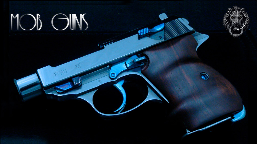 MOB GUNS Walther BABY P38 Blue CocoBolo
