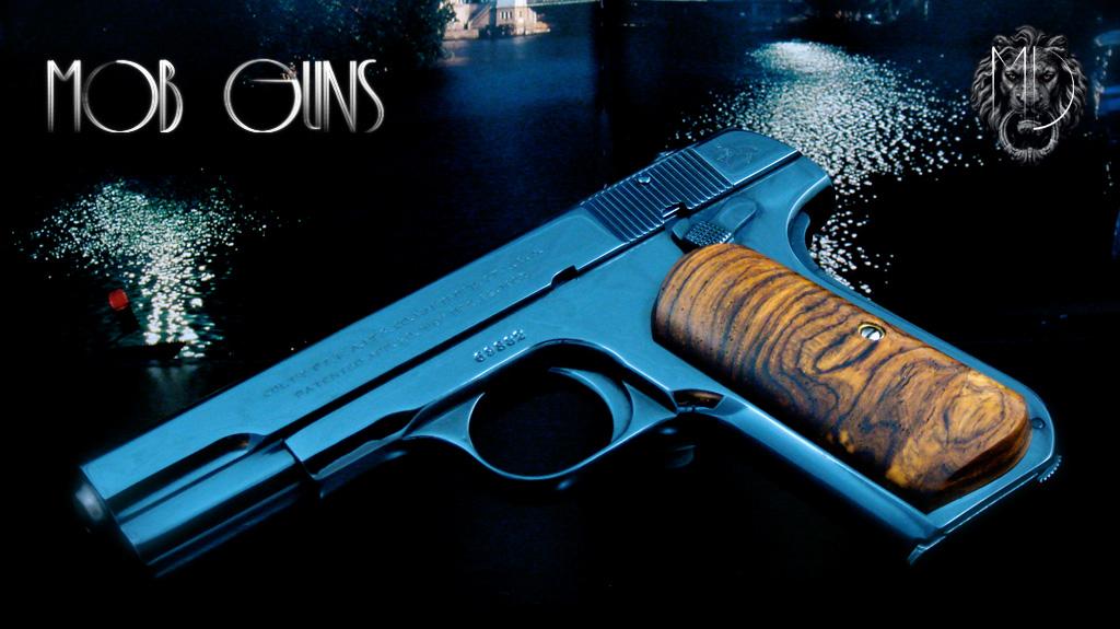 "MOB GUNS ""BOGART"" COLT Model M 1903 Pocket Hammerless Blue Cocobolo"