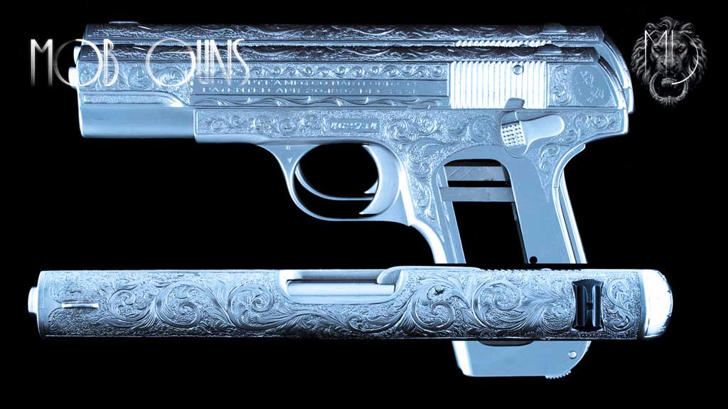 "MOB GUNS ""BOGART"" COLT Model M 1903 Pocket Hammerless Master Engraved set"