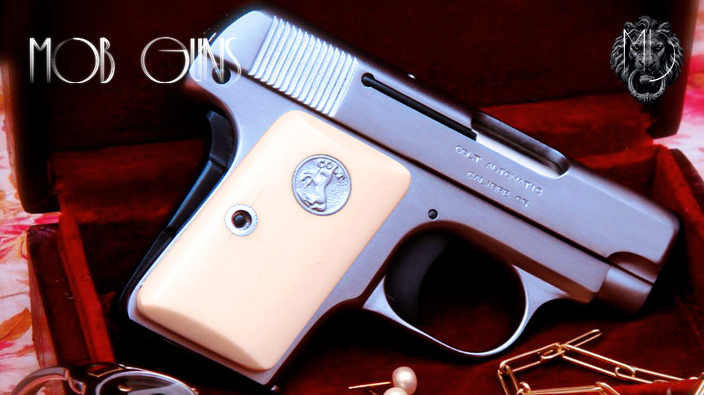 """MOB GUNS """"LITTLE CAESAR"""" Colt 1908 POCKET VEST Satin Ivory"""