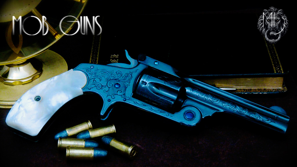 MOB GUNS S&W Baby Russian Engraved with Mother of Pearl