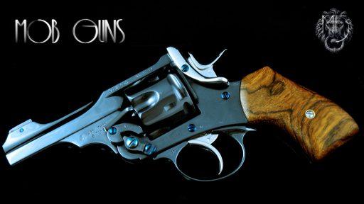 "MOB GUNS Webley Mk VI Baby Blue Cocobolo 3"""