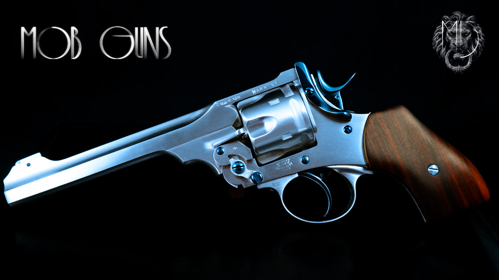 MOB GUNS Webley Mk VI Baby Satin Long Barrel