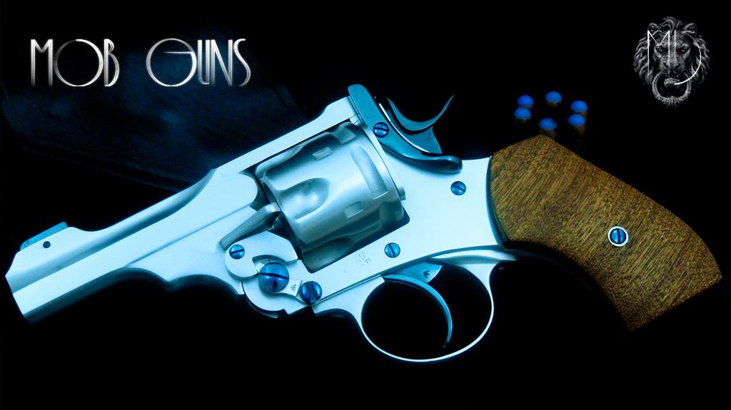 "MOB GUNS Webley Mk VI Baby Satin 3"""