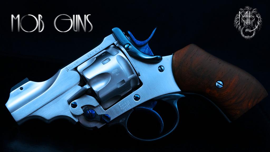 MOB GUNS Webley Mk VI Baby Satin Cocobolo
